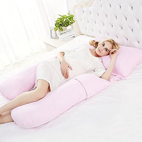 donne multifunzionali in gravidanza cuscino vita di cura a dormire allattamento al seno U-cuscino cura cuscino addominale , pink