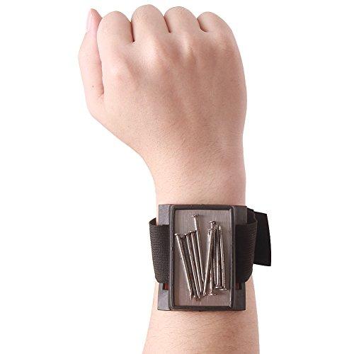 Hense Langlebige Mehrzweck-Magnet Armbänder, Best für Werkzeuge, Schrauben, Nägel, Schrauben, Bohren Bits und kleine Werkzeuge und Schrauben Tasche, Werkzeug für Heimwerker, Männer, Frauen