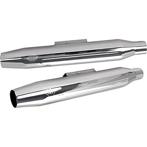 Muffler tapered chrome - 106-5771 - S&s power tune 18010144