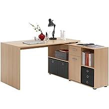 fmd lex mesa escritorio para esquina con estantera escritorio de