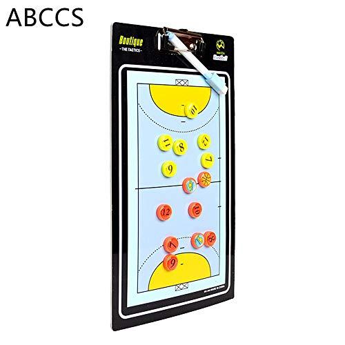 ABCCS Handball Magnetic Tactic Coaching Board Wiederbeschreibbarer Befehl