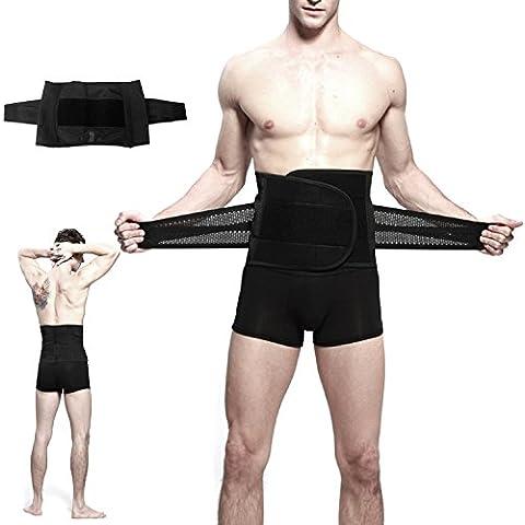 Waist Trimmer,Pupow vita regolabile e cintura, per uomo da allenamento, donna e perdere peso dell'addome Cintura lombare & 22,86 cm (9