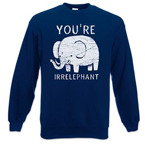Urban Backwoods You'Re Irrelephant Sudadera para Hombre Sweatshirt Pullover Tamaños S –...
