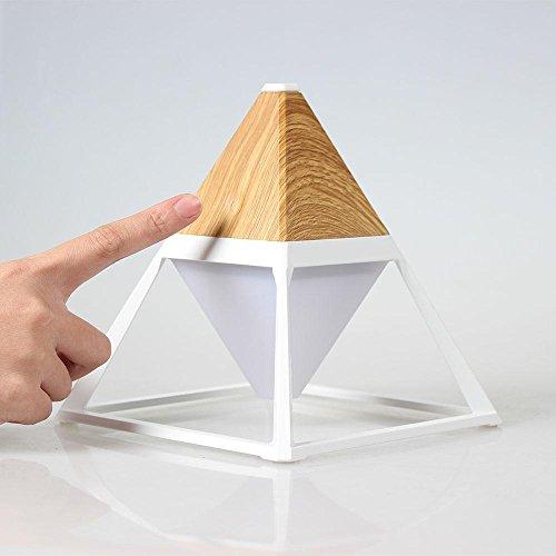 LED Tischlampe Pyramide Holz Korn Metall Augenschutz USB Charge Dimension Wasserdichte Notleuchten , tan