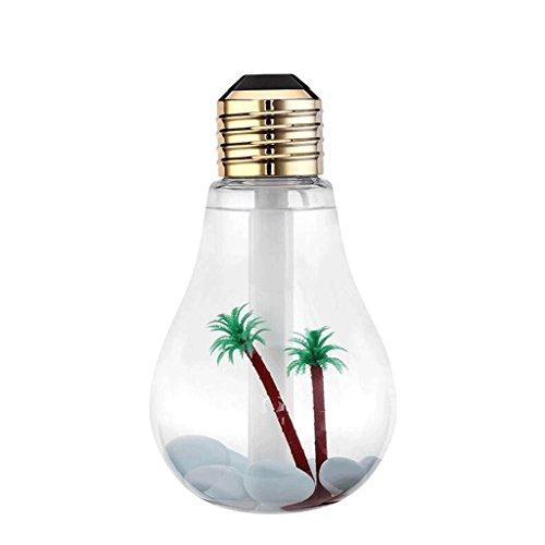 DELICATO T ABS di colore chiaro di 2W USB bambini a bulbo Tipo di interfaccia umidificatore compleanno dono festivo luci possono essere inclini a mettere fari da sposa da letto sono ripetutamente soggiorno 8,8 centimetri LED * 15.3cmNight luce Lampada da tavolo lampada da tavolo (2 pack)