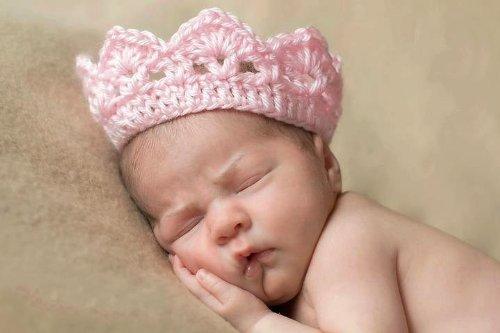 Nalmatoionme von Hand gefertigte Häkelarbeit, gestrickte Krone, Hut (Rosa) für Neugeborene Babys (Mädchen oder Jungen) (Häkeln-mützen Für Baby-jungen)