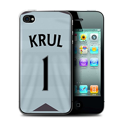 Offiziell Newcastle United FC Hülle / Case für Apple iPhone 4/4S / Pack 29pcs Muster / NUFC Trikot Away 15/16 Kollektion Krul