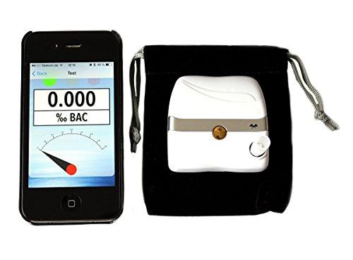 iBAC Bluetooth Alkoholtester Alkomat Alkoholmessgerät mit elektrochemischem Sensor für Smartphones
