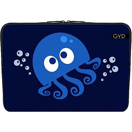 Neopren huelle Laptop 15.6' inch - Sprudelnde Krake by AnishaCreations