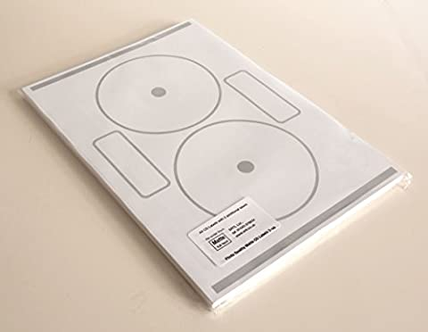 Full Face Photo Quality Matte CD/DVD Labels (Fellowes / Neato Compatible)