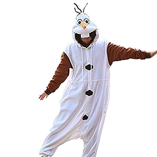 n Fasching Halloween Kostüm Sleepsuit Cosplay Fleece-Overall Pyjama Schlafanzug Erwachsene Unisex Kigurumi Tier Onesize (xuebaoaa1-XXl) (Halloween Kostüme Erwachsene Onesies)