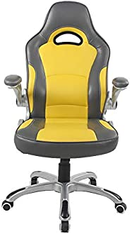 Racoor Video Gaming Chair, Black and Yellow - H 122 cm x W 52 cm x D 50 cm