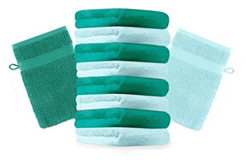 Betz set di 10 guanti da bagno premium 100 % cotone colore
