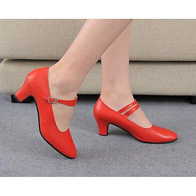 Scarpe da ballo-Personalizzabile-Da donna-Balli latino-americani-Piatto-Raso-Nero Rosa Rosso Argento Black