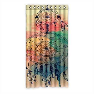"""dalliy personalizado Atrapasueños cortina de ventana poliéster 50""""x96"""" sobre 127cm x 244cm (una sola pieza), poliuretano, B, 50"""" x 96"""""""