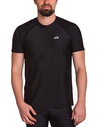 iQ-UV Herren Uv Schutz T-Shirt 300, Black, XXL (56)