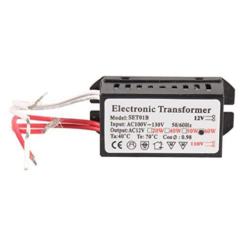 60w 12v Wechselstrom-transformator (Elektronischer Transformator - SODIAL(R)110 V bis 12V 60W Halogen Licht Stromversorgung Konverter Elektronischer Transformator Schwarz)
