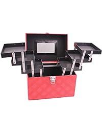 01bf34edb Beauty Case Maletín de Maquillaje Caja de Almacenamiento de Viaje de  múltiples Funciones portátil de Gran
