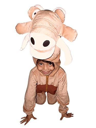 Kostüm Und Pumbaa Timon - Warzen-Schwein Kostüm, Su01/00 Gr. 116-122, für Kinder, Warzenschwein-Kostüme für Fasching Karneval, Warzen-Schweine Klein-Kinder Karnevalskostüme, Kinder-Faschingskostüme, Geburtstags-Geschenk