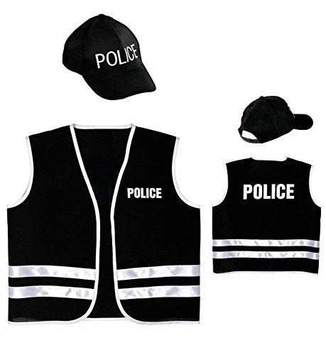 Police-Veste-et-casquette-Costume-de-fantaisie-pour-enfant