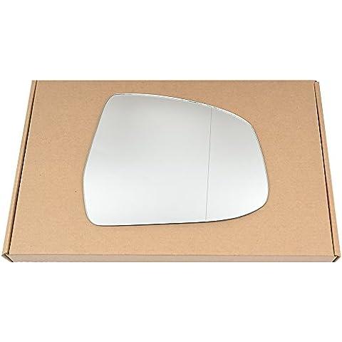 Amplia ángulo derecho lado del conductor ala de plata espejo de cristal para Ford Focus