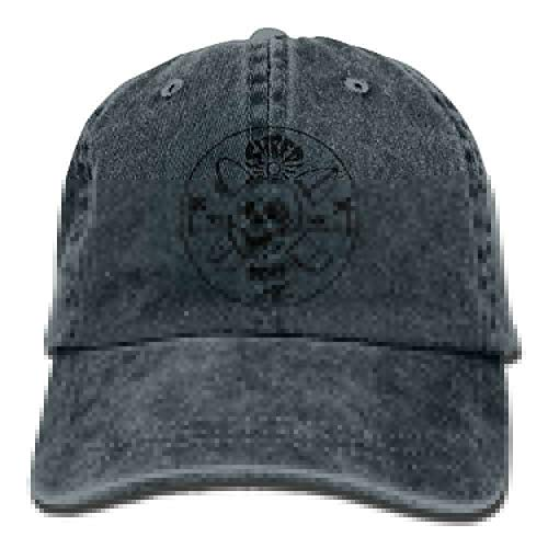 Caterpillar-baumwolle Handschuhe (Zhengzho Unisex Shred Skull Beach Washed Cotton Denim Baseball Cap Vintage Adjustable Dad Hat for Men Women Navy)