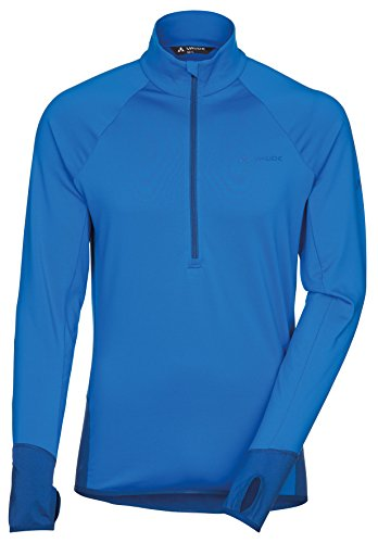 Vaude Livigno Sweat-shirt 1/2 zip Homme Indian Hydro Blue