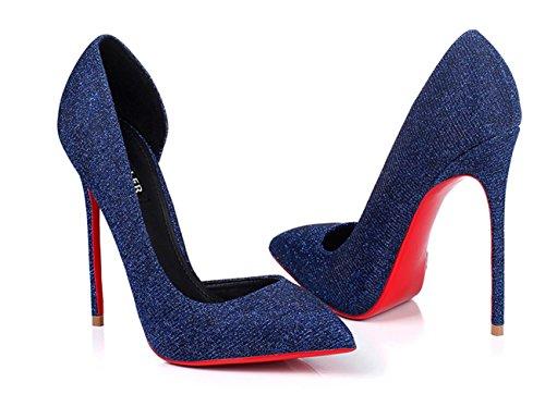 tacchi alti moda alti 12CM tacchi alti - il vino rosso rosso blue 12cm