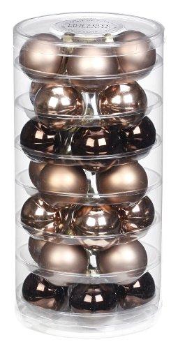 Inge-glas 15101D002 Kugel 45 mm, 28-Stück/Dose, Elegant Lounge-Mix
