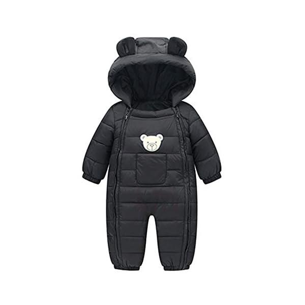 LANSKIRT Mono con Capucha de Ropa Abrigada de Oso para Recién Nacido Bebé Niño Niña Divertidas Mamelucos de Invierno… 1