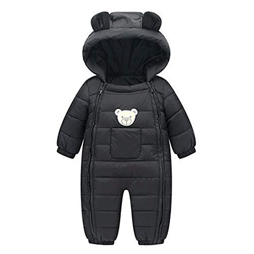 sunnymi 0-24 Monate Baby Mädchen Jungen Strampler Winter Dicke Baumwolle Warme Kleidung Overall