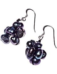 Oi! - E2769 - Boucles d'Oreilles Pendantes Femme - Sterling Argent - Perle - Perle d' Eau douce
