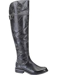 HARLEZ DAVIDSON Femmes - Overknee-Boot Monique - black