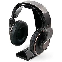 Soporte negro para auriculares Turtlebeach EAR FORCE Z2 / Z22 / Z60 / Z6A / ZLA / TURTLE BEACH ELITE 800 con recogecables. - DURAGADGET