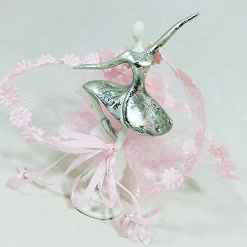20 bomboniere ballerina + sacchetti + confetti - ideali per confezionare bomboniere battesimo bambina
