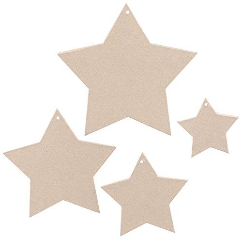 PappArt 4 5, Motiv Sterne, Pappmaché, in Form der Spitze (Pappmaché-formen)