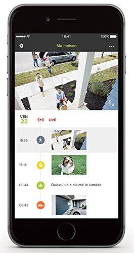 4110LxPeCrL [Bon Plan Fibaro] Netatmo Presence Caméra de sécurité extérieure avec détection de personnes/voitures/animaux