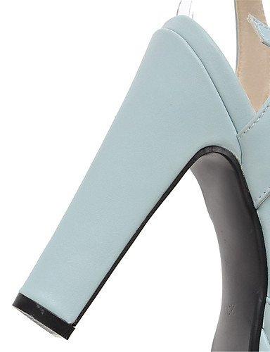 UWSZZ IL Sandali eleganti comfort Scarpe Donna-Sandali-Matrimonio / Ufficio e lavoro / Formale / Casual / Serata e festa-Tacchi-Quadrato-Finta pelle-Nero / Blu / Rosa / Black