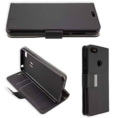 caseroxx Hülle/Tasche Bookstyle-Case Neffos/TP-Link C9a (Aldi-Smartphone) Handy-Tasche, Wallet-Case Klapptasche in schwarz