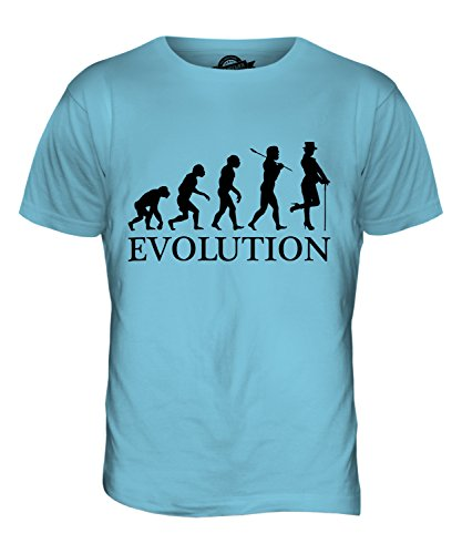 CandyMix Kabarett Tänzer Evolution Des Menschen Herren T Shirt Himmelblau