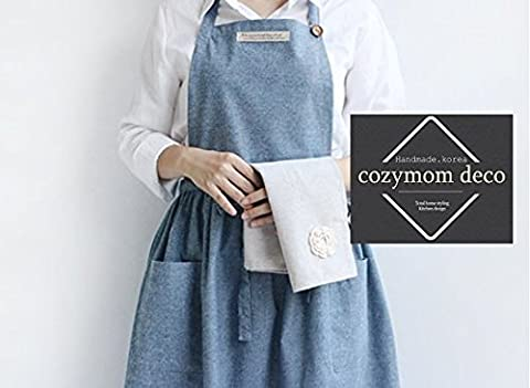 Cozymom Chef Apron Japanese cross back Shape Natural Cotton Shirring