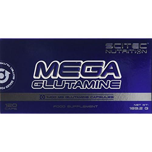 4110O pu9mL. SS500  - Scitec Nutrition Mega Glutamine Capsules - 120 Caps
