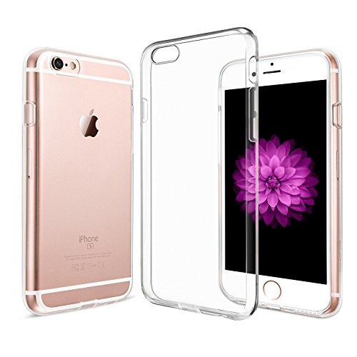 Handyhülle iPhone 6 6s - Amonke iPhone 6 6s Hülle Silikon Transparent - Ultra Dünn Crystal Clear iPhone 6 6s Schutzhülle Durchsichtig Backcover TPU Case (Apple Iphone6 Silikonhülle)