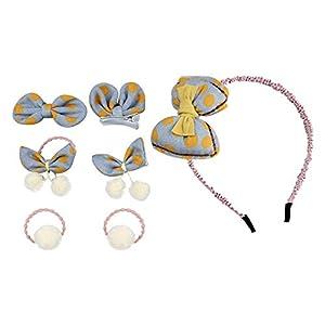 Eudola Kinder Haarspange, Gelber Boge Haarnadel Stirnband Niedlich Haarspange-Set Haarclips Haarklammern Haarschmuck Mädchen und Kinder