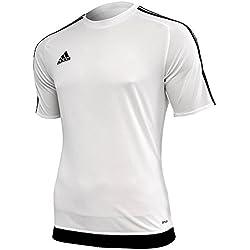 adidas Estro 15 JSY - Camiseta para hombre, color blanco/negro, talla M
