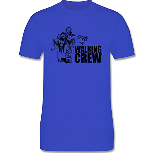 JGA Junggesellenabschied - The Walking Crew - Zombie JGA - Herren Premium T-Shirt Royalblau