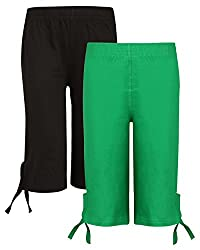 SINIMINI GIRLS CASUAL CAPRI(PACK OF 2)