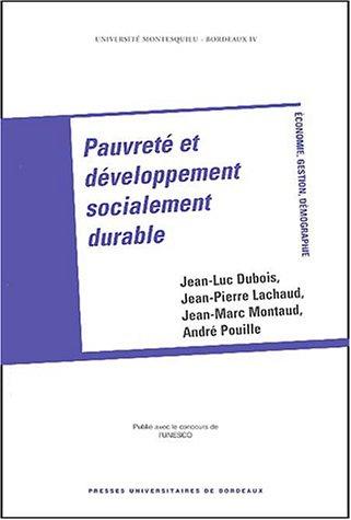 Pauvreté et développement socialement durable