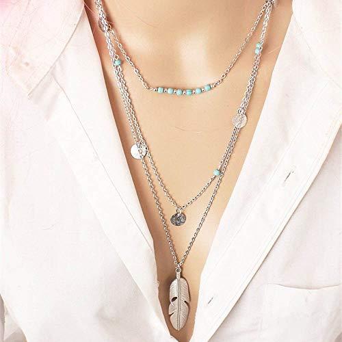 Long collier multicouche Yean pour les femmes et les filles