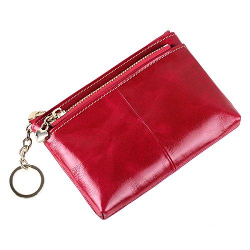 Yvonnelee Donne Della Signora Frizione Lungo Della Borse Borsa cuoio genuino Della Carta Portafoglio Leather Titolare Portamonete Rose